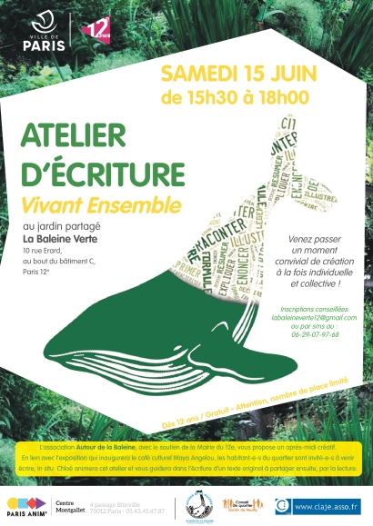atelier ectriture Vivant Ensemble 15-06-2019