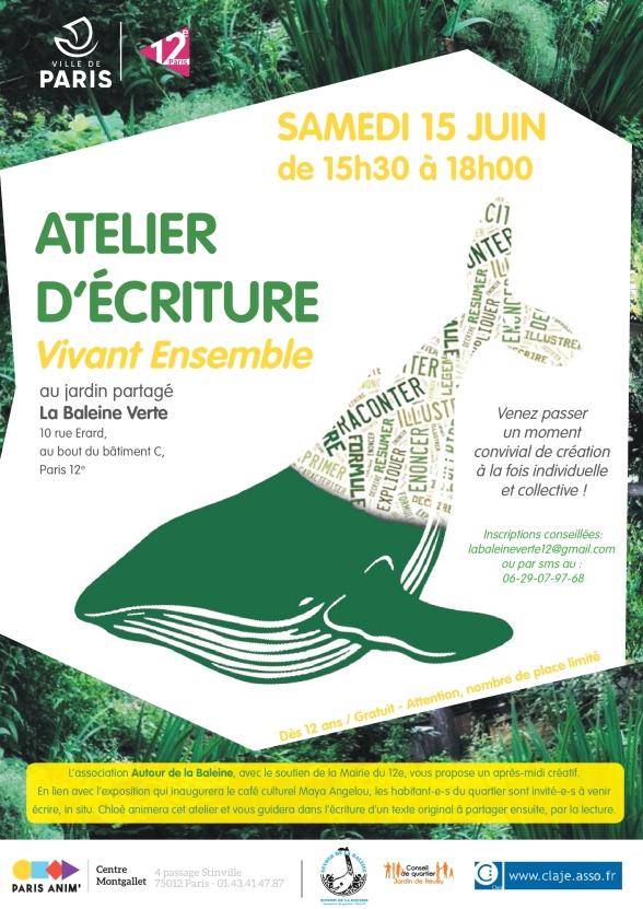 atelier ectriture Vivant Ensemble 15-06-2019