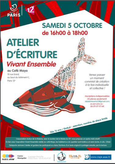 atelier ecriture Vivant Ensemble 5-0-2019